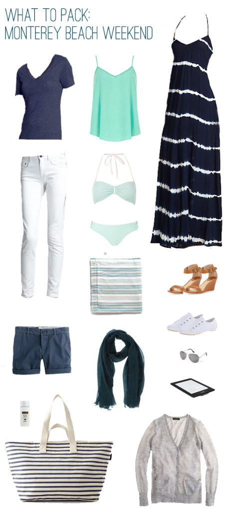 What To Pack Beach Weekend In Monterey California Emilystyle