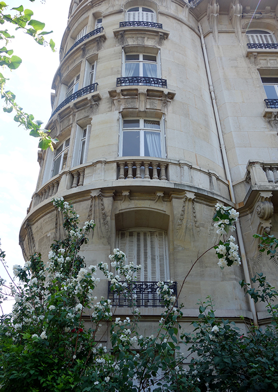 This classic French architecture featured fern details