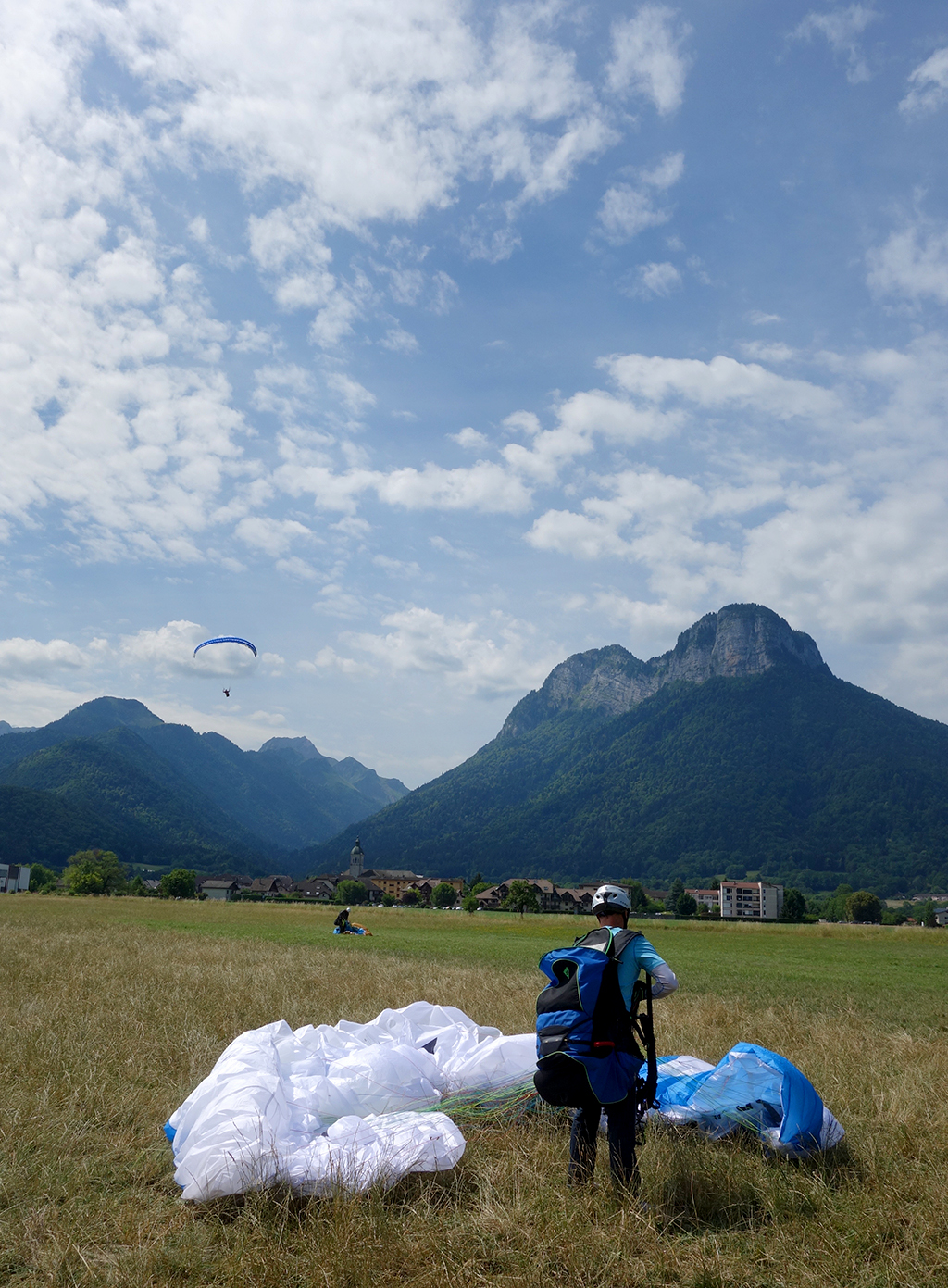 On safe ground after paragliding