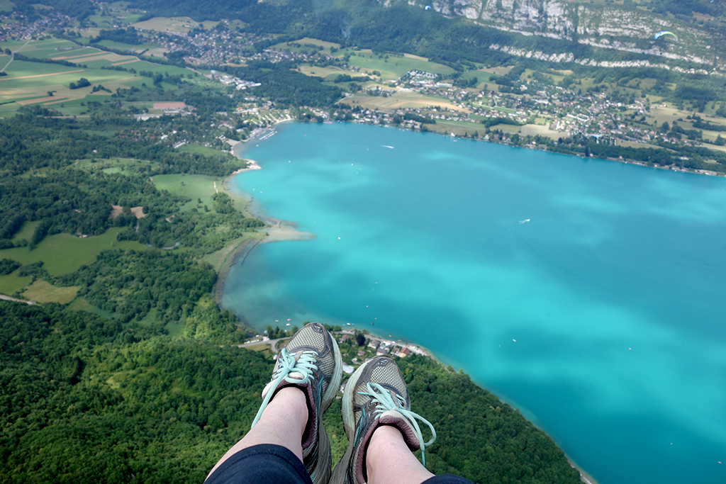 Floating over Lake Annecy