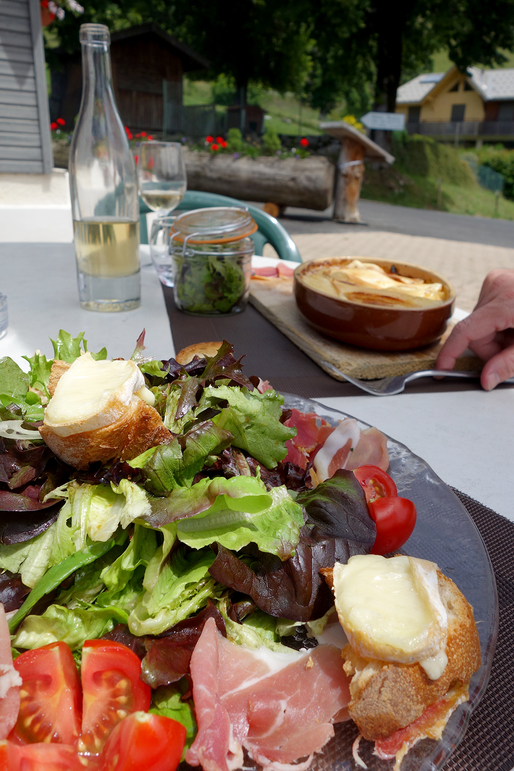 Salad in the French Alps